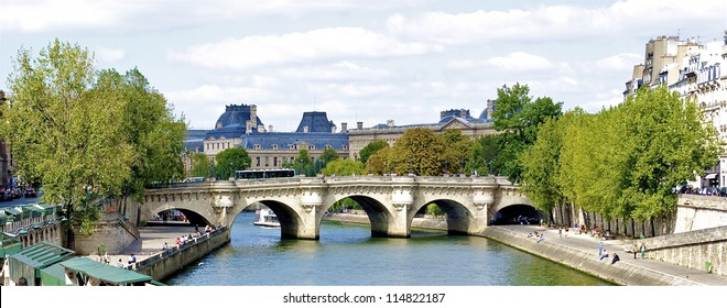 View of the Pont Neuf,  bridge over the Seine in Paris, France