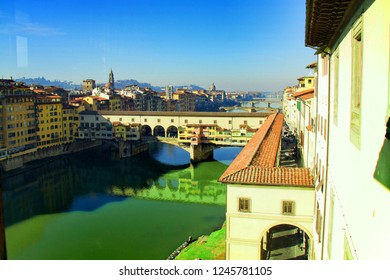 View of Ponte Vecchio. Florence, Italy