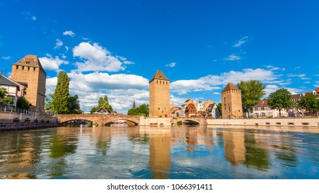 View of  Ponts-Couverts;, in  Strasbourg, Alsace, France