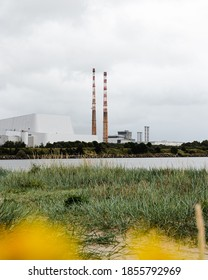 View of The Poolbeg Generating Station Dublin, Ireland