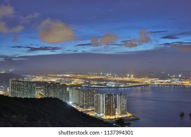a view at Por Kai Shan of Tung Chung town