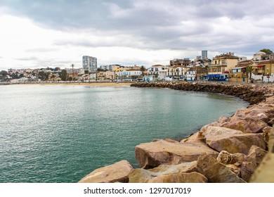 view of port of annaba algeria