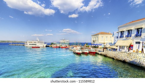 A view of the port of the beautiful Greek Island, Spetses