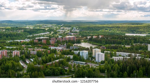 View of  port city of Kuopio in summer, Finland