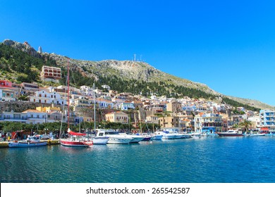 A view of a port in Kalymnos island, Greece