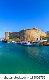 A view of a port in Kyrenia, Cyprus