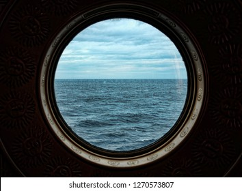 View from Porthole on Cruise Ship