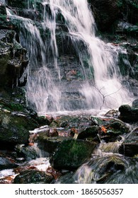 A view of a portion of Spirit Falls in Royalston Massachusetts, it was late fall and the stream was just beginning to ice up.