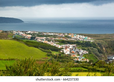 View of Porto Formoso on Sao Miguel Island, Azores archipelago in the Atlantic Ocean, Portugal