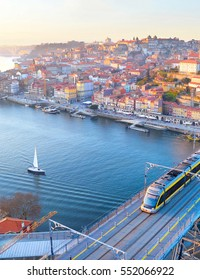 View of Porto at sunset. Portugal
