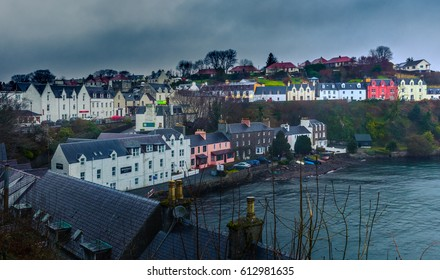 View Of Portree, Isle of Skye, Scotland Village And Houses