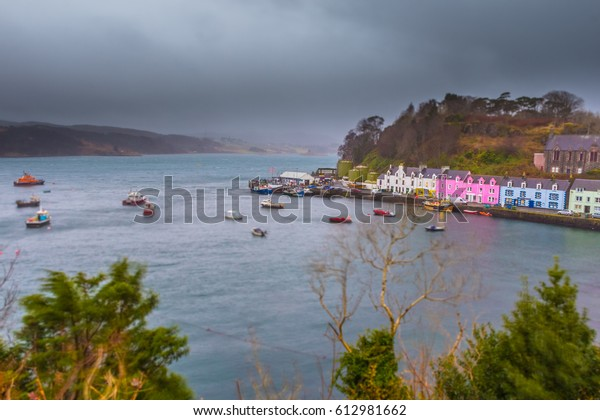 View Portree Isle Skye Scotland Colorful Stock Photo (Edit