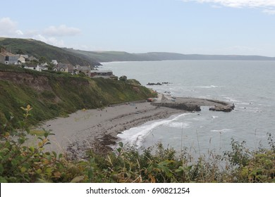 A view of Portwrinkle in Cornwall, from the coast path between Looe and Plymouth in Devon