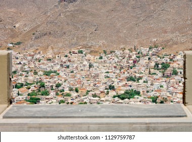 View of Pothia, the port town of Kalymnos island, Greece.