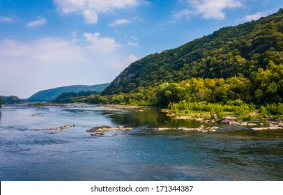 View of the Potomac River, from Harper's Ferry, West Virginia.