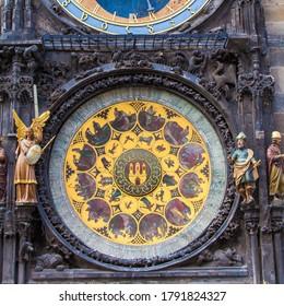 View of the Prague astronomical clock