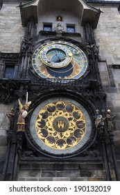 View of prague astronomical clock in Czech republic