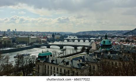 View of Prague from Prague Castle