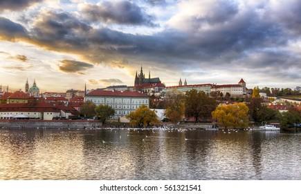 The view of Prague Castle. Czech Republic. Prague.