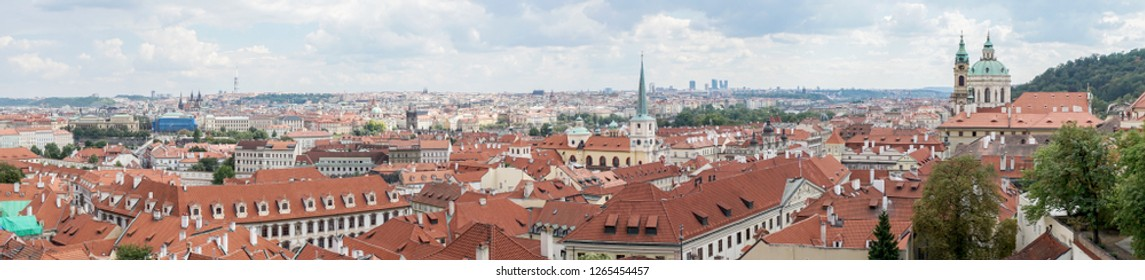 View from Prague Castle over the rooftops of the city