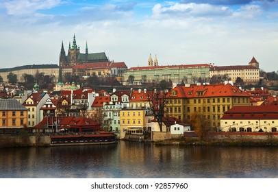 View of Prague Castle from Vltava side, Czechia