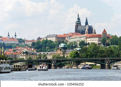 View of Prague from the river/View of Prague/View of Prague
