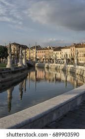 View of the Prato della valle square in Padova
