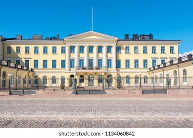 View of the Presidential Palace in Helsinki. Finland, Scandinavia, Europe