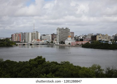 View of Princesa Isabel bridge and Aurora Street. Recife, Pernambuco, Brazil.