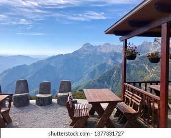 View in Prokletije, also known as the Albanian Alps and the Accursed Mountains. It is a mountain range on the Balkan peninsula, extending from northern Albania to Kosovo and eastern Montenegro.
