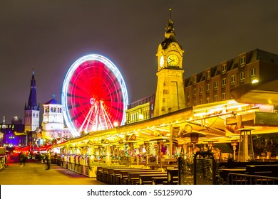 View of the promenade in Dusseldorf