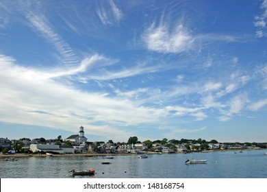 A view of Provincetown, Massachusetts from the harbor