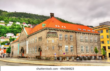 View of the Public Library of Bergen - Norway