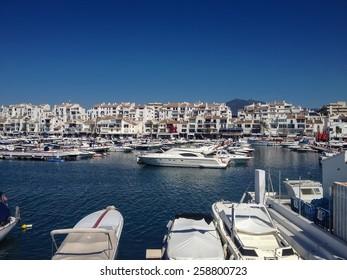 View at Puerto Banus in Marbella, Spain