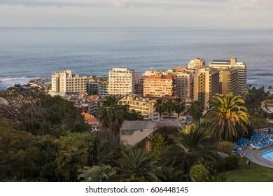 View of Puerto de la Cruz, Tenerife, Spain