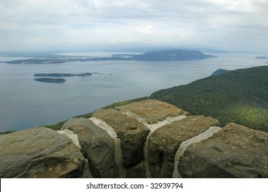 View of Puget Sound from Mt. Constitution, Moran State Park, Orcas Island