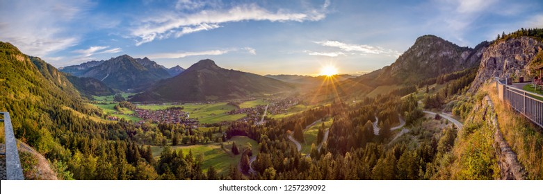View from the pulpit towards Bad Hindelang, Germany