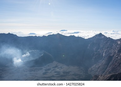 A view from 'Puncak Sejati' (3,344m) and its Caldera.