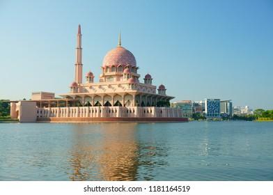 View of Putra Mosque at Putrajaya Lake, Putrajaya