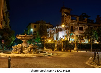 view of quartier called coppedè in rome