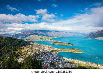 View of Queenstown and The Remarkables, Queenstown New Zealand