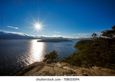 View from Quetrihue Peninsula viewpoint,  Los Arrayanes National Park, Villa La Angostura, Patagonia, Argentina