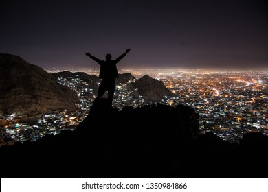 View of Quetta mariabad at night