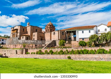 View of Qurikancha in Cusco the most important temple in the Inca Empire
