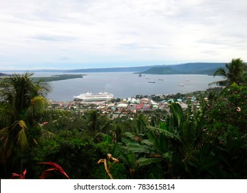 View of Rabaul and Simpson Harbour from Volcano Observatory Lookout, Papua New Guinea