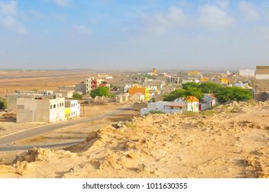 View of Rabil on the island of Boa Vista, Cape Verde