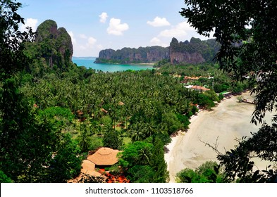 View of the Railay village and of the West Railay bay from the viewpoint.
