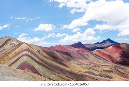 View of Rainbow Mountain in Peru.
