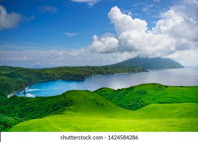 The view from Rakuh A Payaman (AKA Marlboro Country for tourists) with Mt. Iraya in the background in Batan Island, Batanes - Image