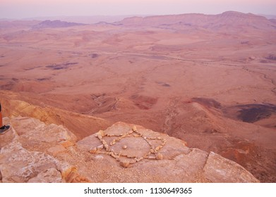 View of the Ramon Crater from Above - Mitzpe Ramon, Negev Desert, Israel - July 2016